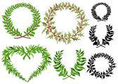 Laurel wreaths vector set  — Stock Vector