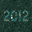 New year 2012 number made of snowflakes texture — Stock Vector #7701191