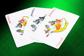 Jokers cards from a deck of playing cards — Stock Photo