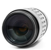 Tele zoom lens isolated on white — Stock Photo