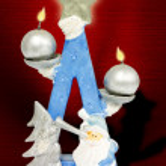 圣诞蜡烛 — 图库照片