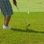 Игрок в гольф на зеленый — Стоковое фото