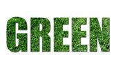 Ekologiczne tekst na białym tle biały — Zdjęcie stockowe