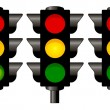 Traffic lights graphic isolated - Stock Photo