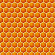 Honey cells texture with honey — Stock Photo #17356151