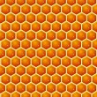 Stock Photo: Honey cells texture with honey