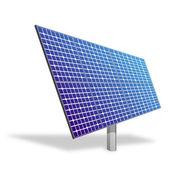 Solar panel for alternative energy isolated on white — Stock Photo
