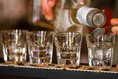 Shots in nightclub — Stock Photo