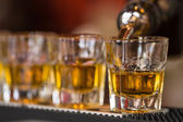 Shots drinks in cocktail nightclub — Stock Photo