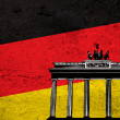 German grunge flag — Stock Photo