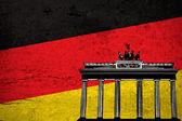 Duitse grunge vlag — Stockfoto