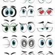 Stock Vector: Cartoon eyes
