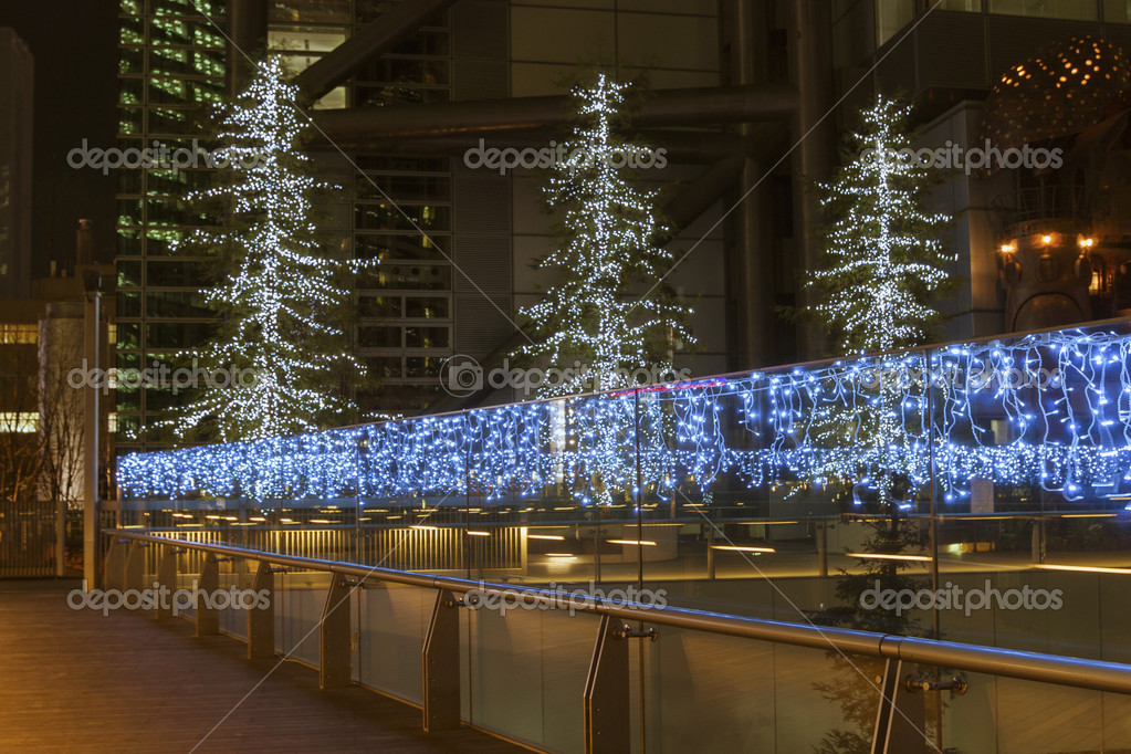 Modern city street illumination by Christmas time  Stock Photo #12762941