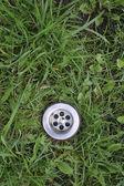 Dreno de grama verde — Foto Stock