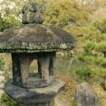 Stone lantern in zen garden — Stock Photo