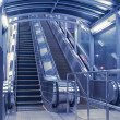 Stock Photo: Modern escalators hall