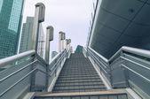 Modern city stairs — Stock Photo