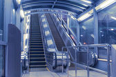 Modern escalators hall — Stock Photo