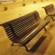 Stock Photo: Night benches