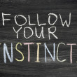 Stock Photo: Follow your instincts