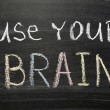 Use your brain — Foto Stock