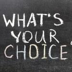 Whats ваш выбор — Стоковое фото #22302801