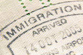 Immigration stamp — Stock Photo