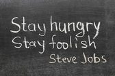Steve Jobs quote — Stock Photo