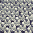 Japanese jizo sculptures — Photo