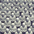 Japanese jizo sculptures — Stock Photo