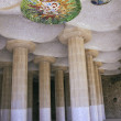 Parc Guell - Sala Hipostila — Stock Photo