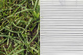 Air filter and grass — Stock Photo