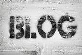 Blog word — Stock Photo