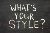 What your style — Stock Photo