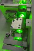 Green laser fragment — Stock Photo