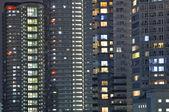Fond de ville de nuit — Photo