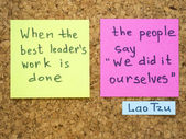 Leader's work — Stock Photo