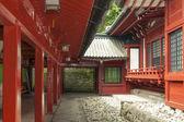 Japanese temple inner yard — Stock Photo