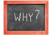 Why question — Stock Photo