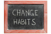Change habits — Stock Photo
