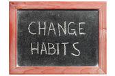 Change habits — Stock Photo