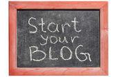 Avviare il tuo blog — Foto Stock