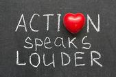 Action speaks — Stock Photo