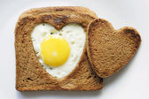 Toast and egg — Stock Photo