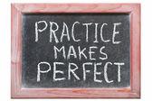 Practice makes — Stock Photo