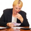 Mature businesswoman counting the money. — Stock Photo