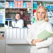 Beautiful pharmacist. - Foto de Stock  