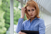 Young businesswoman — Foto Stock