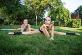 Training in the park — Stock Photo