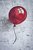 Red baloon 1 — Stock Photo